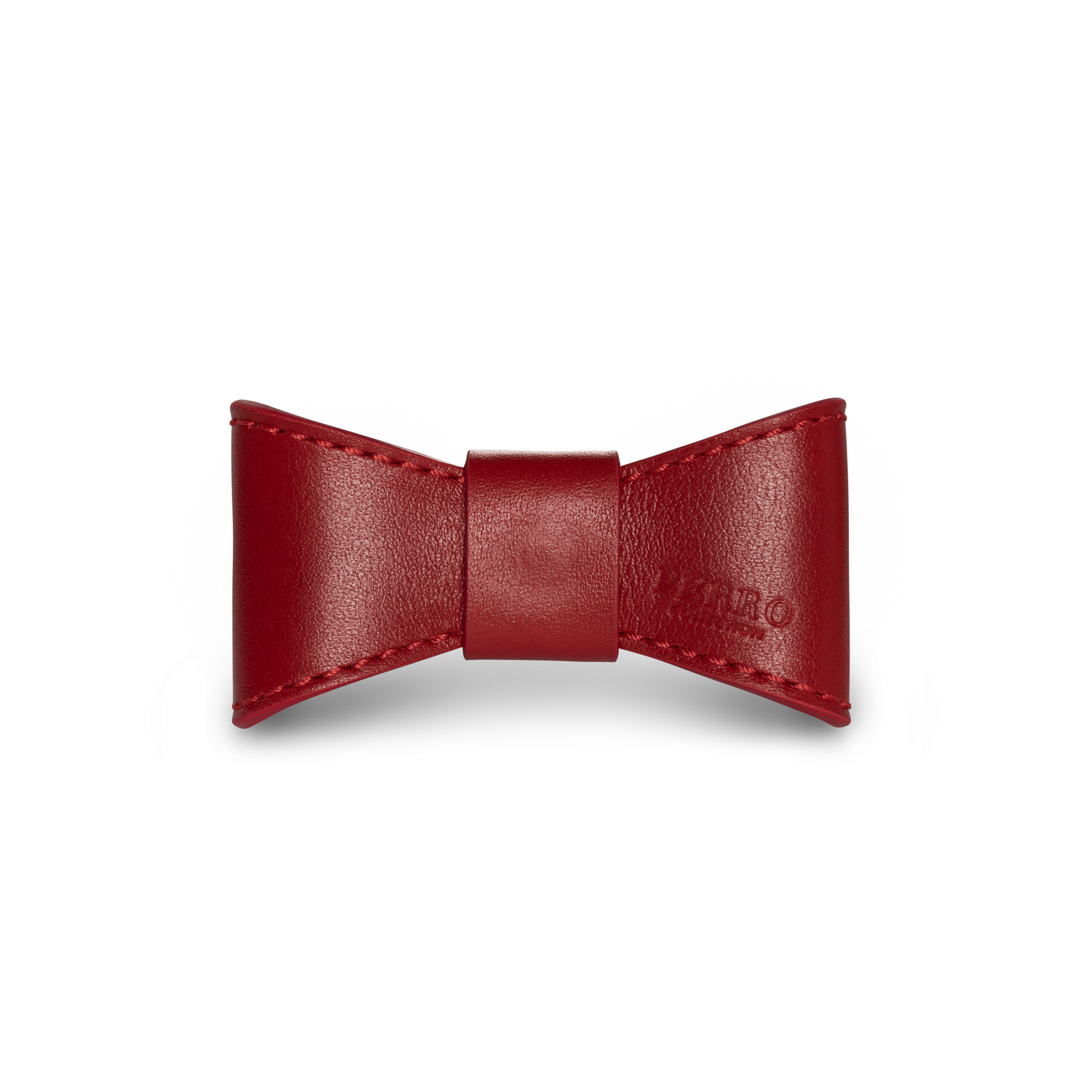 scarlet leather bowtie red bow tie dogbowtie dog
