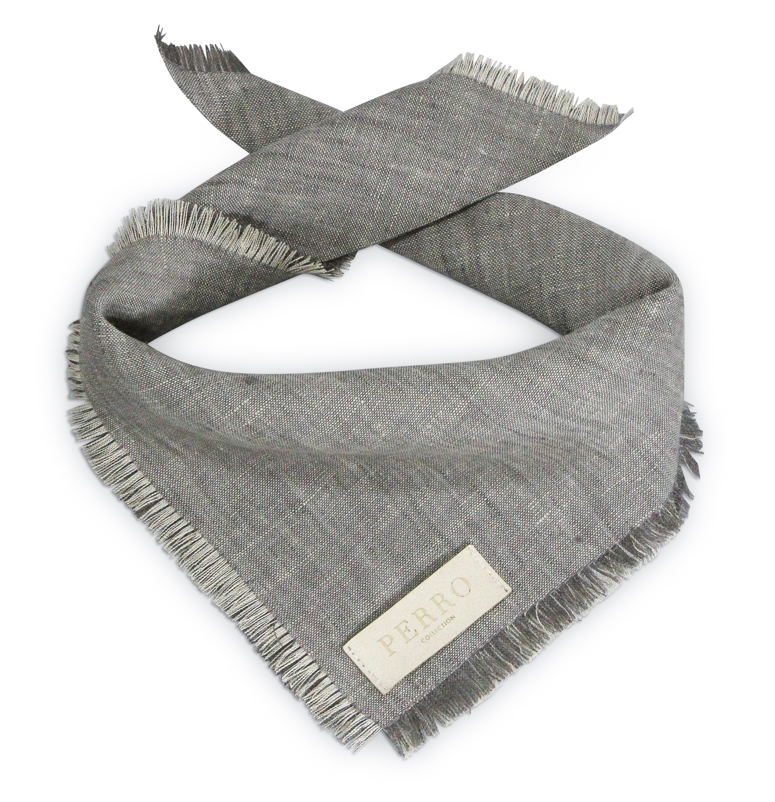 linen scarf taupe