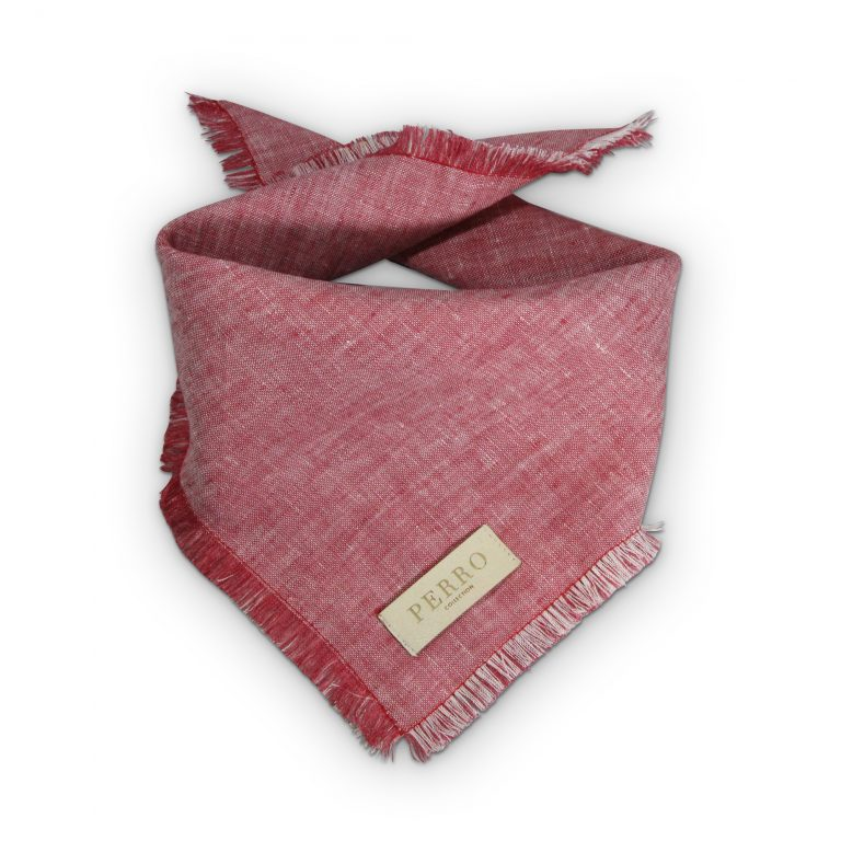 red linen scarf