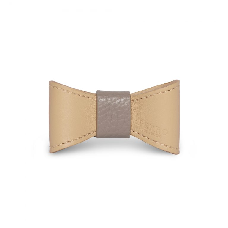 Nude leather bowtie limited