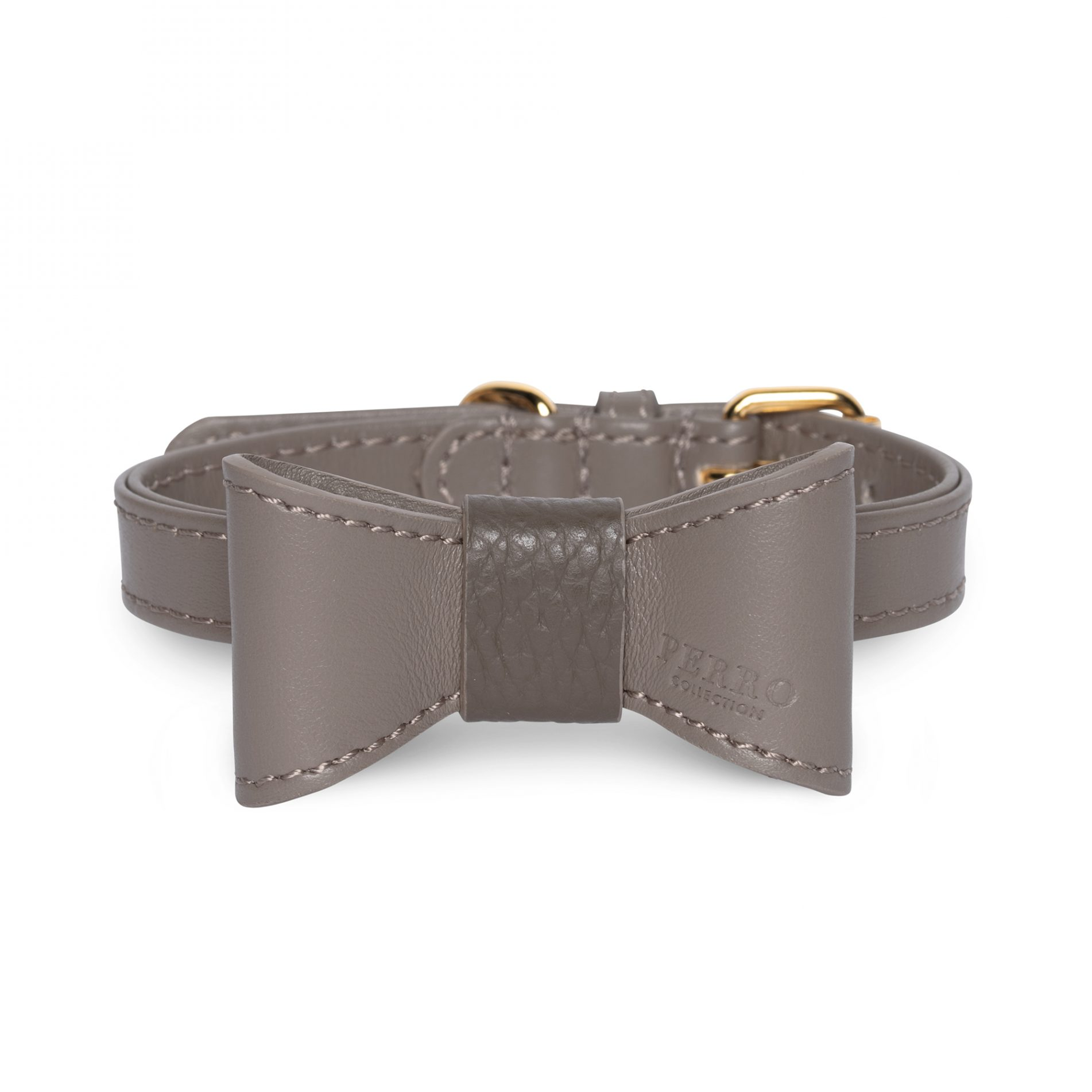 taupe limited bowtie on collar