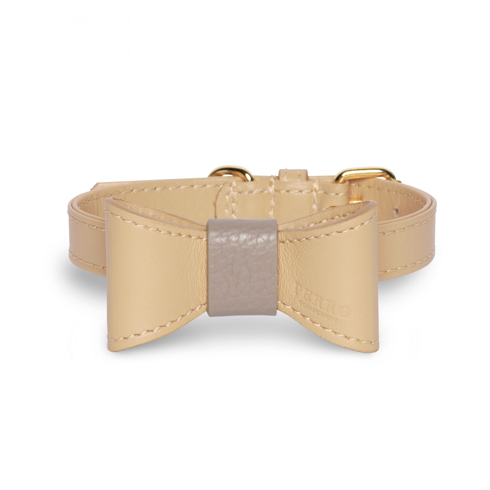 nude limited bow on collar