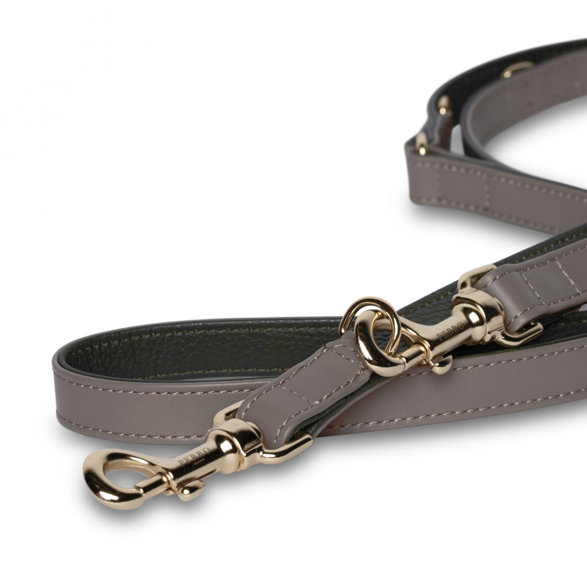 special ed taupe green long leash