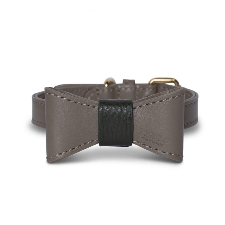 special edition taupe bowtie collar