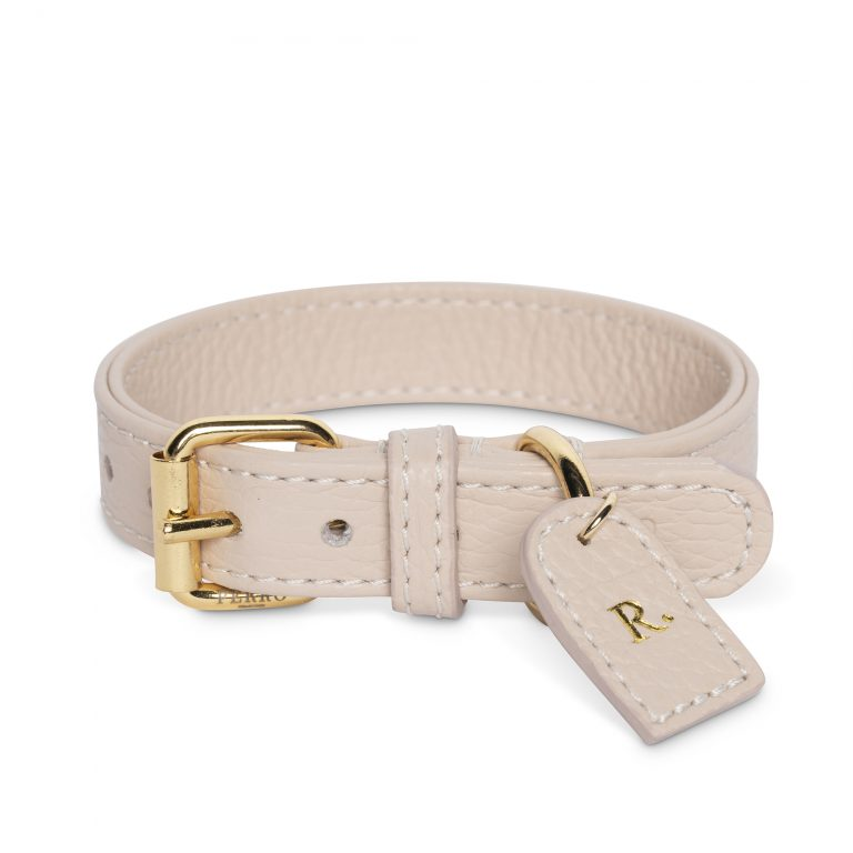 Dusty pink collar tag