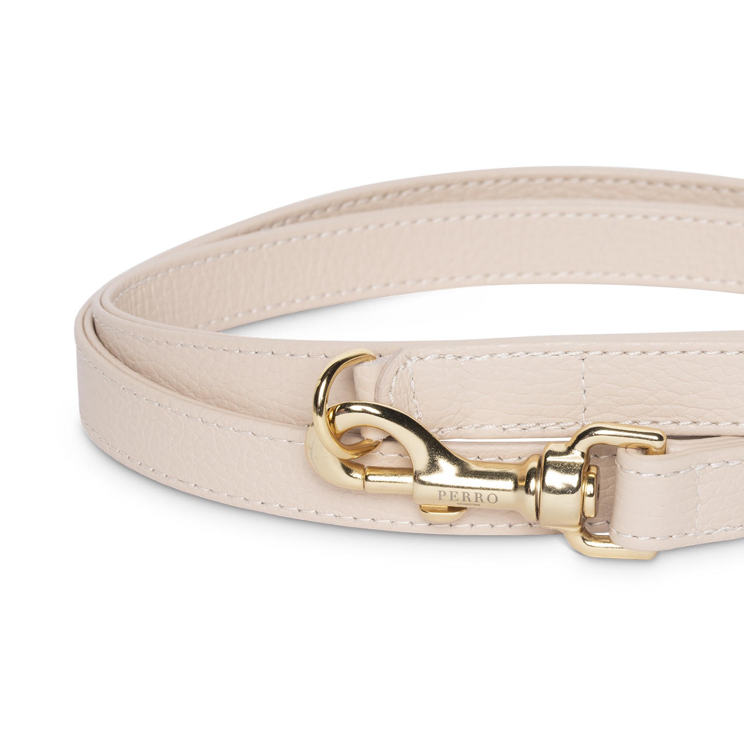 Dusty pink leash close up